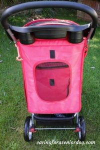 rear view of the Confidence Deluxe Four Wheel Pet Stroller rear view