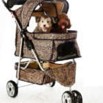 All Terrain Extra Wide 3 Wheels Pet Dog Cat Stroller w/RainCover