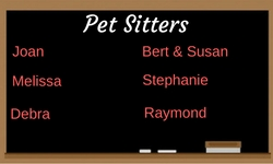 list of pet sitters