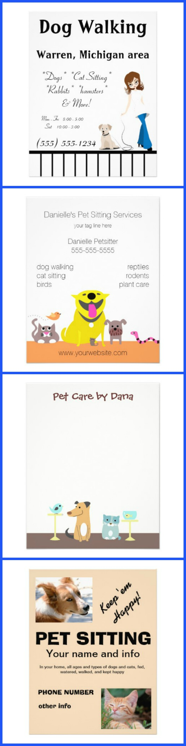 pet sitting flyers caring for a senior dog pet sitting flyers