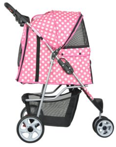 VIVO three wheel pet stroller