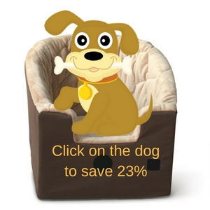 K H Manufacturing dog booster car seat