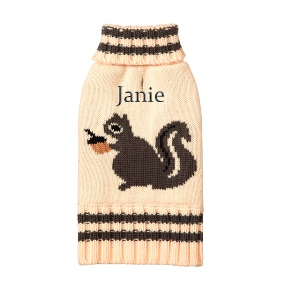 Personalized squirrel turtleneck sweater