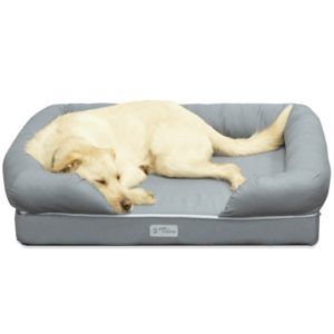 PetFusion Dog Lounge and Bed with memory foam