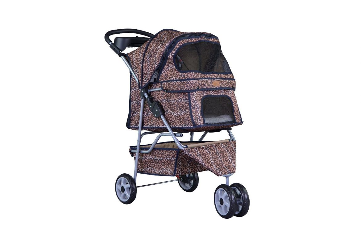 bestpet all terrain extra wide 3 wheel pet stroller