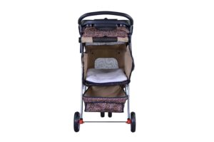 bestpet all terrain extra wide 3wheel pet stroller rear view