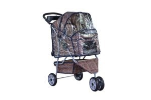 bestpet all terrain extra wide 3 wheel pet stroller with rain cover