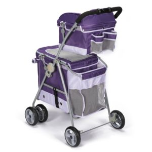 Guardian Gear double decker pet stroller rear view