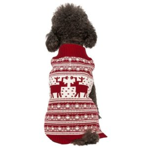 Blueberry pet vintage reindeer sweater