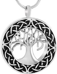 celtric tree of life memorial urn necklace