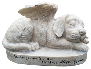 dog angel pet memorial stones