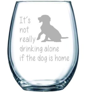 wine glass for dog lovers
