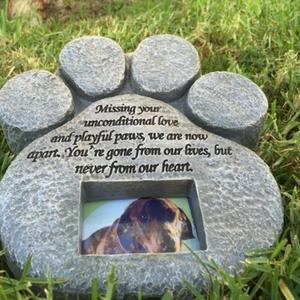 paw print pet memorial stones