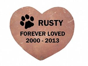 heart shaped pet memorial stones