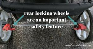 rear locking wheels are an important safety feature
