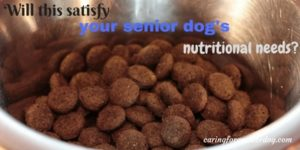 is this enough senior dog nutrition