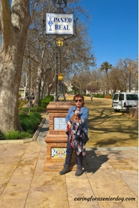 Red and I in Paseo Real Antequera