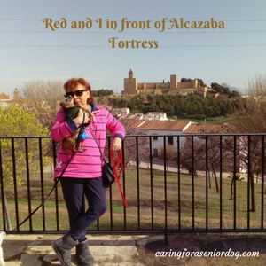 Red and I in front of Alcazaba Fortress