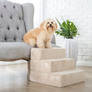 Zinus 3 step foam pet stairs