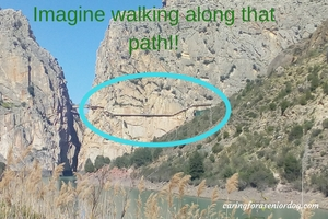 walking along the Caminito del Rey path