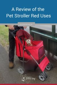 The confidence deluxe four wheel pet stroller is the one Red uses
