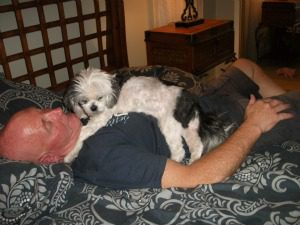 this was my deaf dog Josephine with her dad