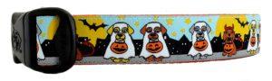 3 Dirty Dawgz Halloween dog collar