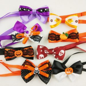 Hixixie 15 piece mutli pack Halloween bow ties for dogs and cats