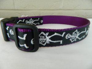 Schmoopsie couture skeleton Halloween dog collar