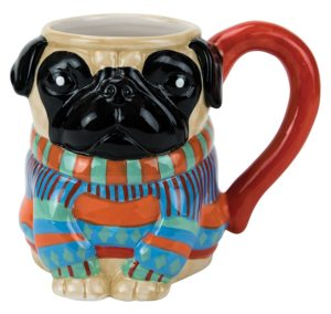 Boston Warehouse pug mug