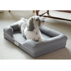 an orthopedic bed can offer help for a dog with arthritis