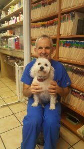 Dr Keith Niesenbaum and Bella