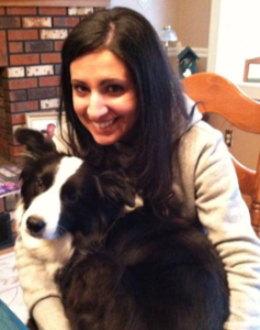 Guest author Angela Tuzzo and her 10 year old senior dog Motley