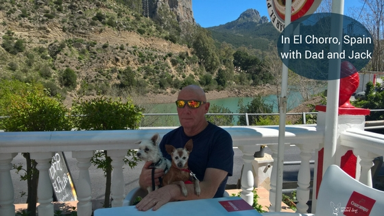 In El Chorro Spain with Dad and Jack