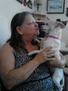 Chichi and mom helped by Elder Paws Senior Dog Foundation