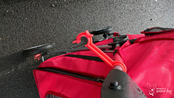latch to keep pet stroller closed is a very handy feature